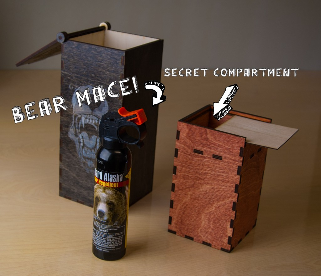 Bear Mace Conveyance with a Secret Compartment